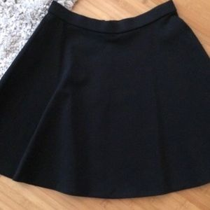Halogen black A line skirt with exposed zipper